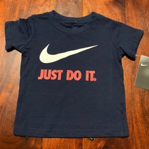 NWT Nike Just Do It. TShirt, Size 2T